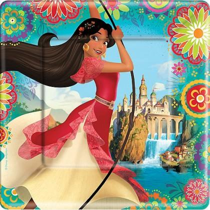 "Disney Elena of Avalor Square Plates, 9"""