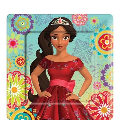 "Disney Elena of Avalor Square Plates, 7"""