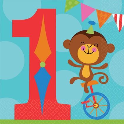 Fisher Price™ 1st Birthday Circus Beverage Napkins