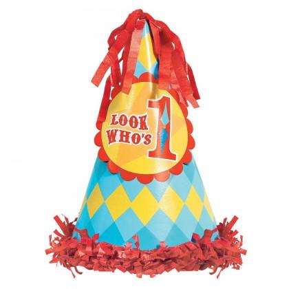 Fisher Price™ 1st Birthday Circus Cone Hat - Paper