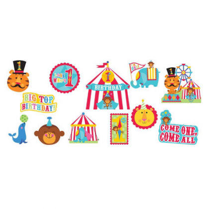 Fisher Price™ 1 st Birthday Circus Value Pack Cutouts - Printed Paper