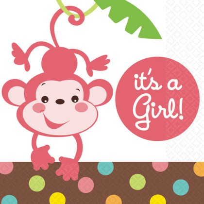 Fisher-Price™ Baby - It's A Girl Beverage Napkins