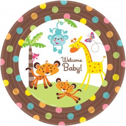 """Fisher-Price™ Baby Round Plates, 10 1/2"""""""