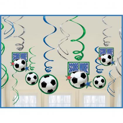 Soccer Value Pack Foil Swirl Decorations