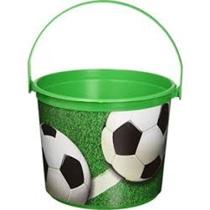 "4 1/2"" x 6 1/4"" Dia. Soccer Bucket - Plastic"