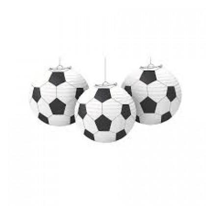 "9 1/2"" Soccer Lanterns - Printed Paper"