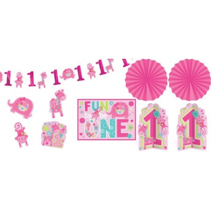 """One"" Wild Girl Room Decorating Kit"