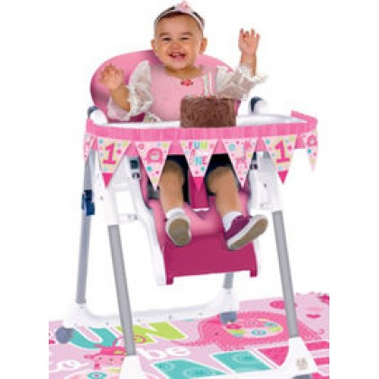 """One"" Wild Girl High Chair Decorating Kit"