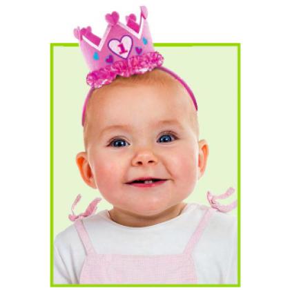 1st Birthday Girl Novelty Headband - Felt
