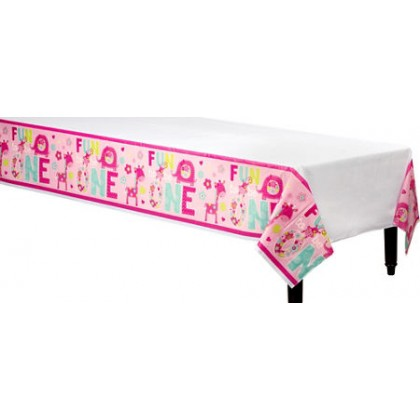 """One"" Wild Girl Plastic Table Cover"