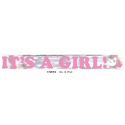 It's A Girl Metallic Banner