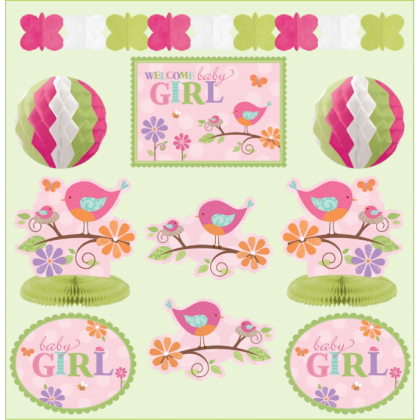 Tweet Baby Girl Room Decorating Kit