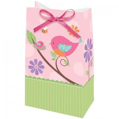 Tweet Baby Favor Bags w/Ribbon