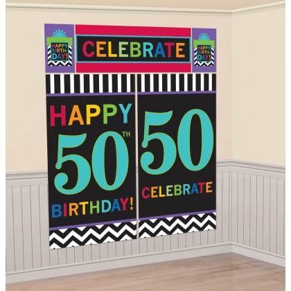 50th Celebration Scene Setters® Wall Decorating Kits