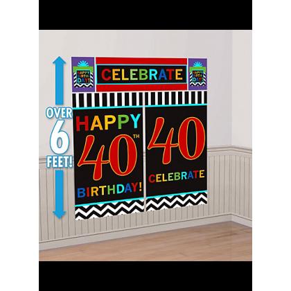 40th Celebration Scene Setters® Wall Decorating Kits