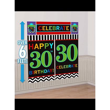 30th Celebration Scene Setters® Wall Decorating Kits