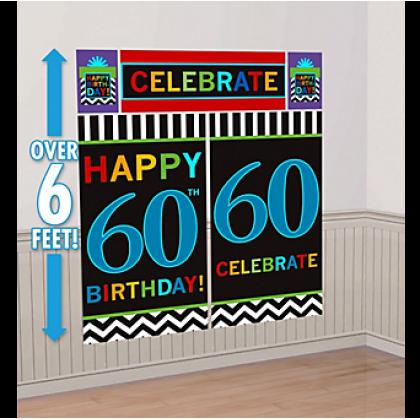 60th Celebration Scene Setters® Wall Decorating Kits