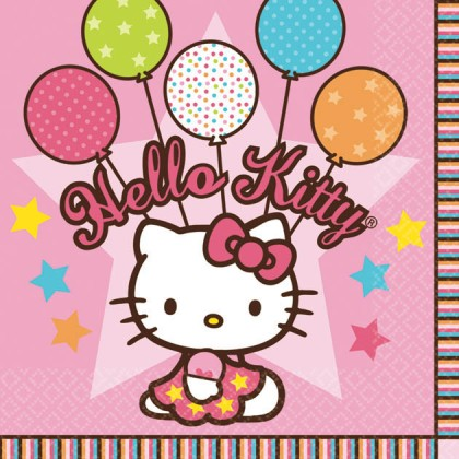 Hello Kitty® Balloon Dreams Beverage Napkins