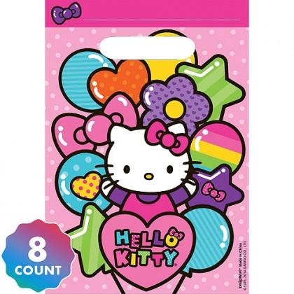 Hello Kitty® Rainbow Folded Loot Bags - Plastic