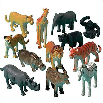 "2"" Jungle Animal Favors"