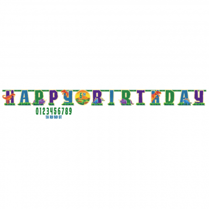 Prehistoric Party Jumbo Add-An-Age Letter Banner - Printed Paper