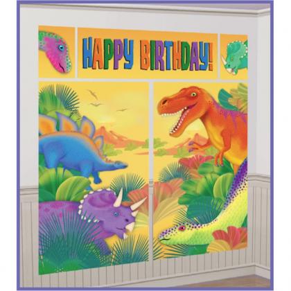 Prehistoric Party Scene Setters® Wall Decorating Kit - Plastic