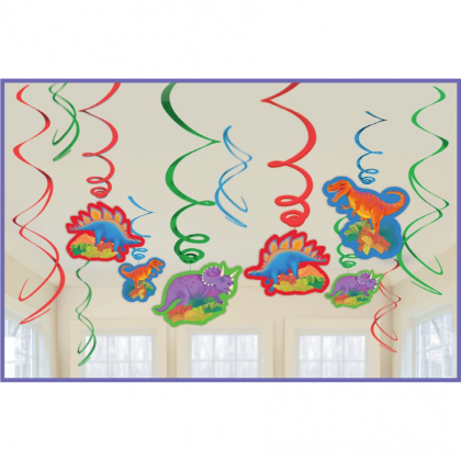 Prehistoric Party Value Pack Foil Swirl Decorations