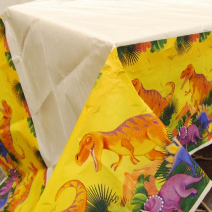 Prehistoric Party Plastic Table Cover
