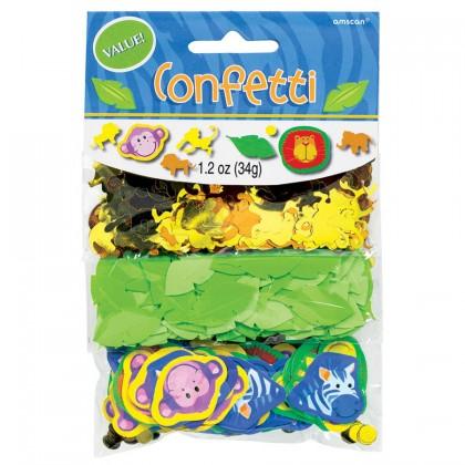Jungle Animals Value Confetti - Paper & Foil