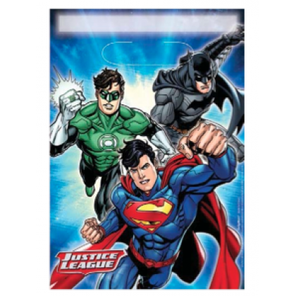 Justice League™ Folded Loot Bags - Plastic