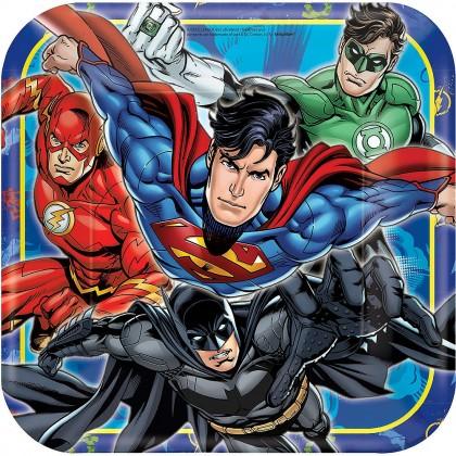 """Justice League™ Square Plates,9"""""""