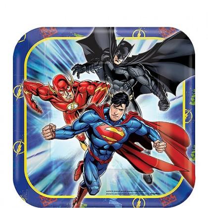 """Justice League™ Square Plates, 7"""""""