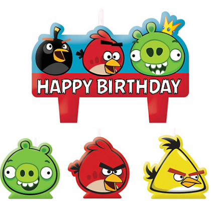 Angry Birds™ Birthday Candle Set