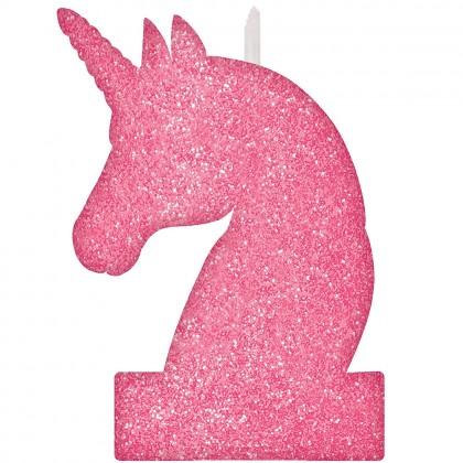 Magical Unicorn Birthday Candle - Glitter