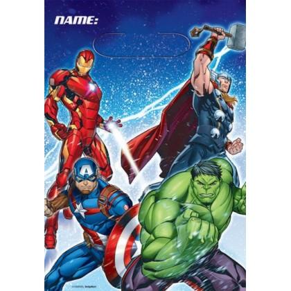 Marvel Epic Avengers Folded Loot Bags - Plastic