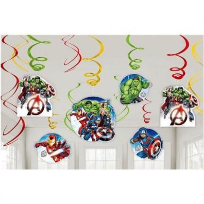 Marvel Epic Avengers Value Pack Foil Swirl Decorations