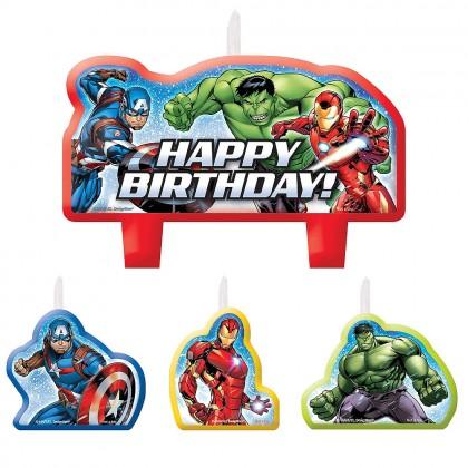 Marvel Epic Avengers Birthday Candle Set