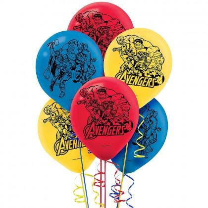 Marvel Epic Avengers Printed Latex Balloons - Asst. Colors