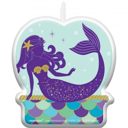 Mermaid Wishes Birthday Candle