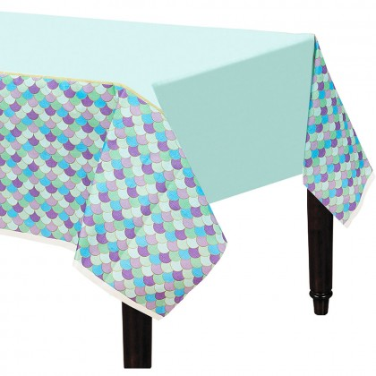 Mermaid Wishes Paper Table Cover