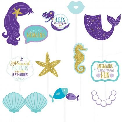 Mermaid Wishes Photo Prop Kit