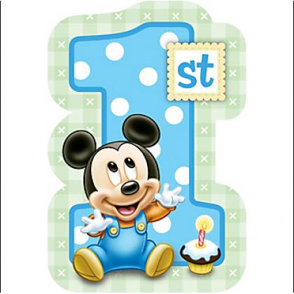 ©Disney Mickey's 1st Birthday Invitations