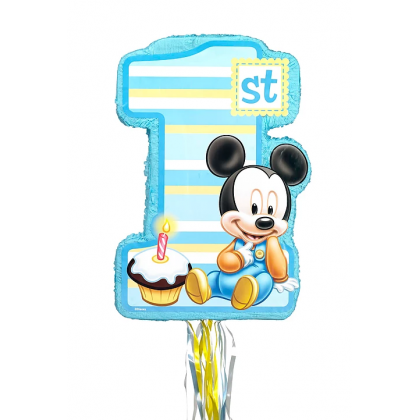 ©Disney Mickey's 1st Birthday Licensed Outline Pull Pinata