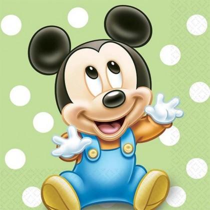 ©Disney Mickey's 1st Birthday Beverage Napkins