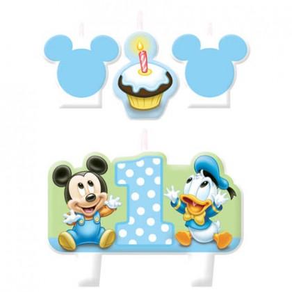 ©Disney Mickey's 1st Birthday Candle Set