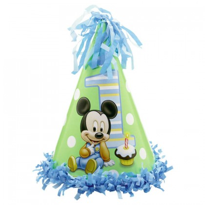 ©Disney Mickey's 1st Birthday Cone Hat - Paper