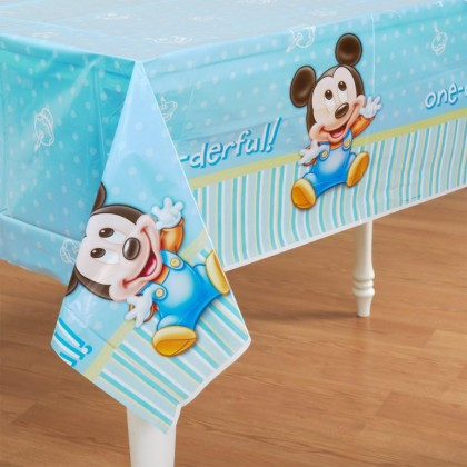 ©Disney Mickey's 1st Birthday Plastic Table Cover