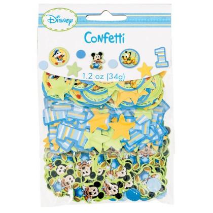 ©Disney Mickey's 1st Birthday Value Pack Confetti - Paper