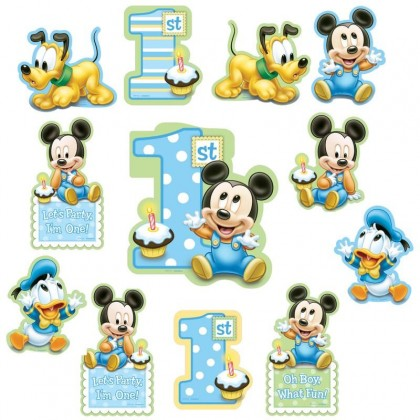 ©Disney Mickey's 1st Birthday Value Pack Cutouts, Paper