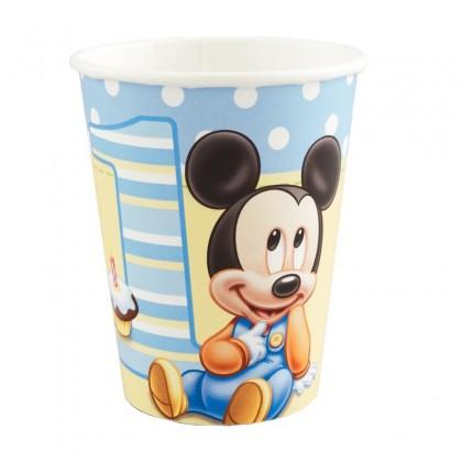 ©Disney Mickey's 1st Birthday Cups, 9 oz.